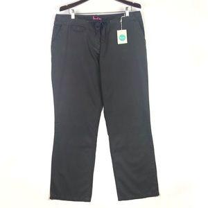 Boden drawstring straight leg chino pants WM295